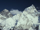 View of Mount Everest and Mount Nuptse