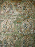 Buddhist Painting Inside the Jokhang Temple in Lhasa  Tibet