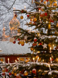 Christmastime at Tivoli Gardens  Copenhagen  Denmark