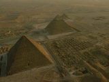 Aerial of Pryamids of Giza