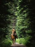 Horseback Riding on an Emerald Lake Lodge Bridle Trail