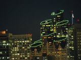 San Diego High Rises Brightly Lit at Night