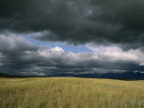 Dark Clouds Gather over a Prairie in the National Bison Range