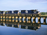 An Early Freight Train Crosses the Trestle over the Matanzas River