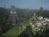 A View of Mayan Ruins at Tikal