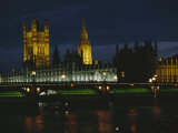 Night View of the Houses of Parliament and the London Bridge