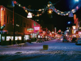 Second Avenue  the Main Business Street in Fairbanks  Decorated for Christmas