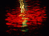Light Reflected in the Water at Night