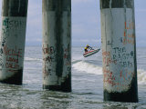 Graffiti-Covered Pilings