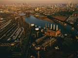 Factories  Power Plants  and Rail Yards Crowd Along the Banks of the Hackensack River