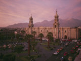 The Sun Shines on a Neoclassical Building in the Plaza De Armas in Arequipa