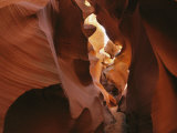 Patterns Created in the Red Sandstone of Antelope Canyon