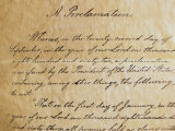Close-up of a Copy of the Emancipation Proclamation