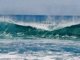 The Surf Crashes on the Australian Shoreline Near Kalbarri