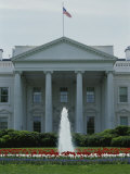 Front of the White House with Fountain and Flowers  Spring of 2000
