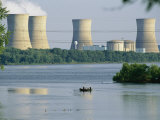 View of Three Mile Island Nuclear Reactor on the Susquehanna River