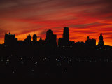 The Sun Rises over the Skyline of Kansas City  Missouri