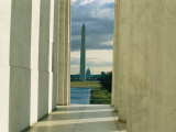 A View of the Washington Monument and the Capitol as Seen from the Lincoln Memorial