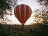 A Hot Air Balloon Lands in a Farm Pasture Near Walton  Nebraska