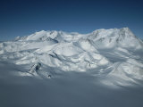 An Aerial View of Mount Vinson  Antarcticas Highest Peak