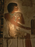 A Stone Relief Depicts a Member of Ancient Egyptian Royalty