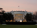 Twilight View of the White House