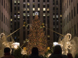Rockefeller Center and the Famous Christmas Tree Rink and Decoration  New York City  New York