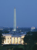 The White House  Washington Monument  and Jefferson Memorial at Dusk