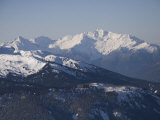 A View of the Mountains Around Whistler  Bc