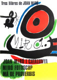 Tres libres de Joan Miro (Barcelona) 1970