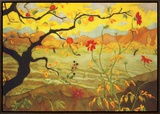 Apple Tree with Red Fruit  c1902