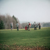 Golfers Playing on Golf Course