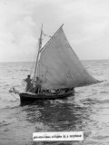 Cuban Refugee Boat Crossing the Straits of Florida  Seeking Freedom in the Us