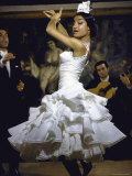 Flamenco Dancer Maria Albaicin Performing