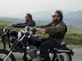 Hell&#39;s Angels Riding Motorcycles on Road
