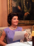 First Lady Jacqueline Kennedy Looking over Some Papers at the White House