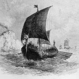 The Danish Ship Called the Raven  Viking Ship  Pre-800 AD