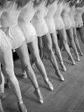 Legs of Ballerinas Belonging to the School of American Ballet