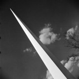 View of the Iconic Trylon on the Grounds of the 1939 New York World's Fair
