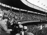 Crowd Attending a New York Yankee Baseball Game at Yankee Stadium