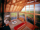 Interior View of a Prefabricated House on Block Island Taken from the Sleeping Loft