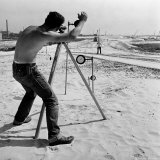 Surveyor Taking Measurements During Construction of the New Jersey Turnpike
