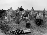 Marine Col Francis Fenton Kneeling Over Corpse of Son  Killed in Action under His Father's Command