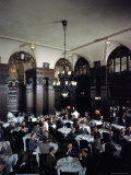 Diners in the Oak Room at the Plaza Hotel
