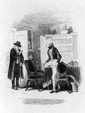 Illustration Depicting a Scene from the Charles Dickens Novel Martin Chuzzlewit