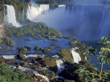 Iguassu or Iguacu Waterfalls  Formerly Known as Santa Maria Falls  on the Brazil Argentina Border