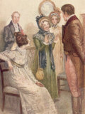 Scene from Jane Austen's last novel Persuasion  written in 1816 and published posthumously in 1818