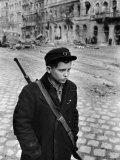 Hungarian Freedom Fighter During Revolution Against Soviet Backed Government