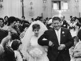 Emotional Italian Father Weeping as He Walks His Daughter Down the Aisle