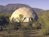 Fiber Glass Covered Plywood Geodesic Dome House Serves as Weekend Retreat and Art Studio
